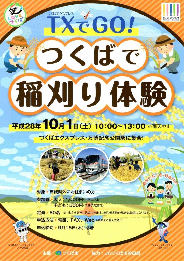 稲刈り体験イベントパンフ